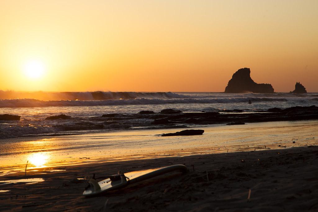 Sunset Playa Maderas Nicaragua