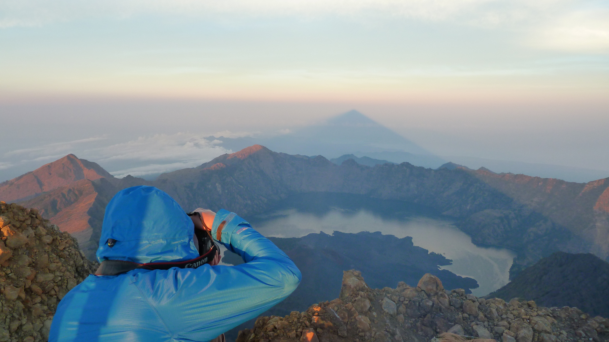 Ben Bland Photographing Volcano in Indonesia